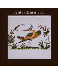 Carreau décor 2215 polychrome Tradition Vieux Moustiers