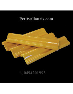 Listel corniche en faience émaillée couleur jaune provençal