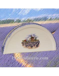 Porte serviette de table décors motifs paysage lavande