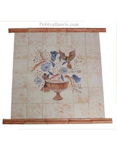 Fresque murale sur carreaux de faience d cor artisanal - Fresque carrelage mural ...