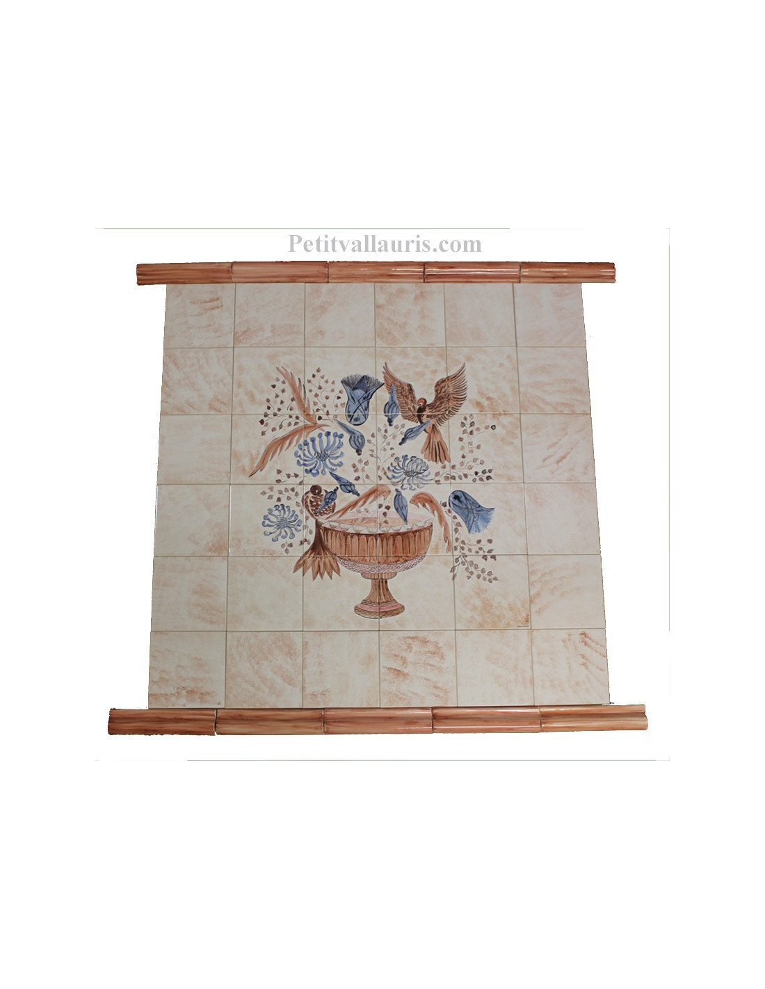 Fresque murale carrelage d cor hall couloir immeuble for Decoration faience couloir