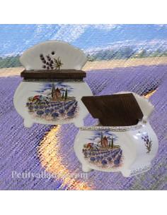 Boîte à sel décor Paysage de Provence
