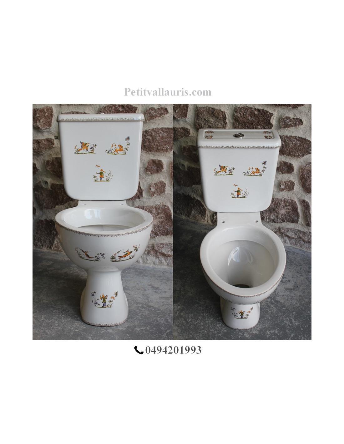 toilettes wc dcor tradition vieux moustiers polychrome