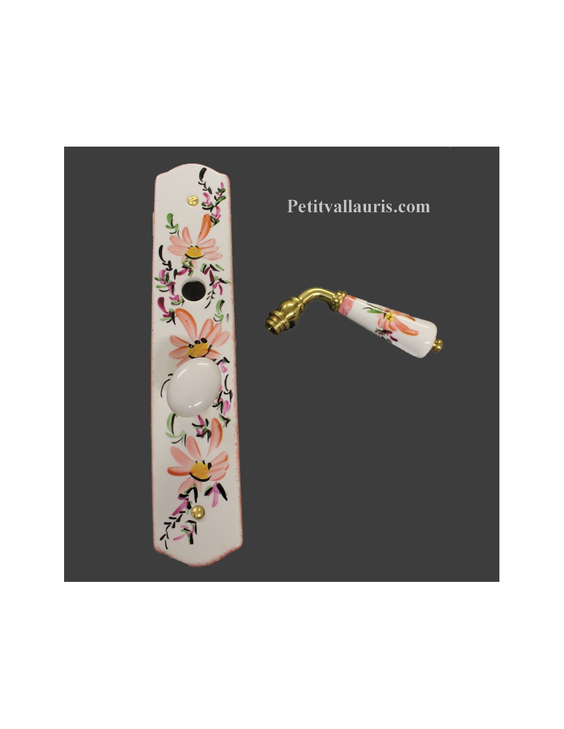 Plaque de propret en porcelaine avec verrou pour for Plaque de porte decorative