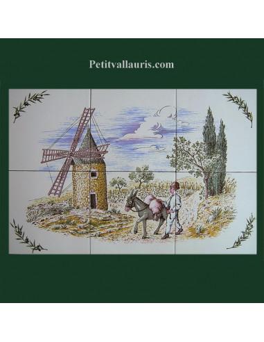 Fresque fa ence d cor moulin et meunier le petit vallauris for Le petit vallauris