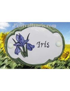 Plaque de porte décor Iris