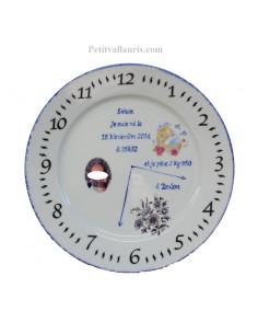Assiette personnalisée de naissance Garçon avec photo en porcelaine