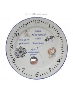 Assiette de naissance Garçon avec photo en porcelaine modèle Ange