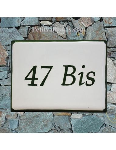 plaque de signalisation c ramique bord vert inscription verte le petit vallauris. Black Bedroom Furniture Sets. Home Design Ideas