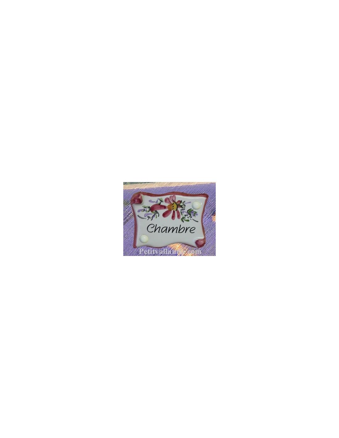 Plaque Porte Chambre : plaque de porte parchemin rose chambre le petit vallauris ~ Nature-et-papiers.com Idées de Décoration