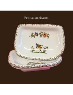 Porte savon modèle Annie décor Tradition Vieux Moustiers polychrome