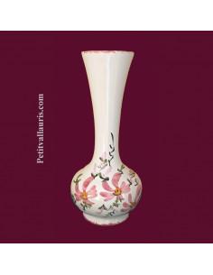 Soliflore boule décor Fleuri rose