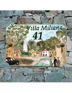 Plaque de villa décor centre ville de Miliana avant indépendance