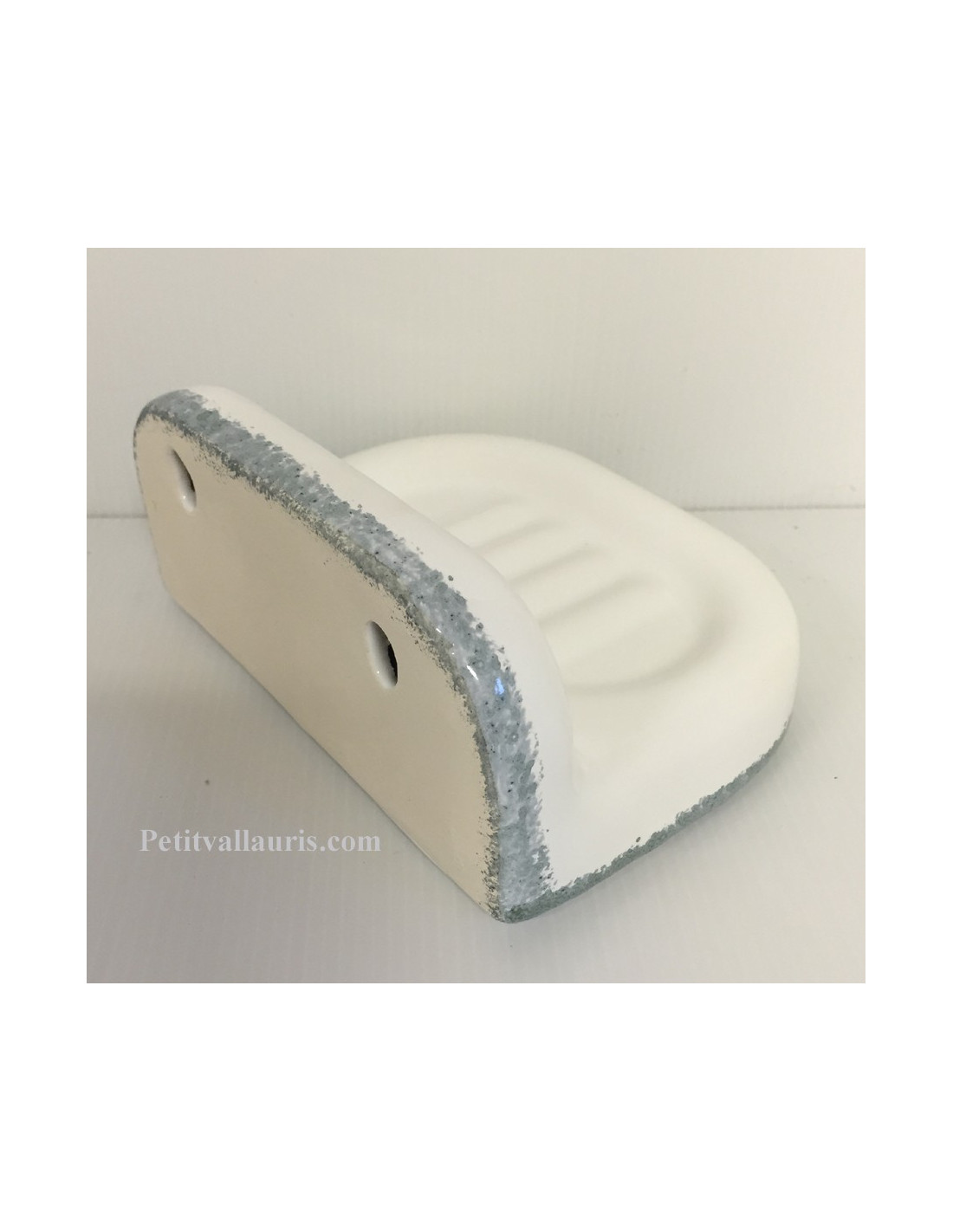 porte savon mod le mural couleur maill e unie blanche. Black Bedroom Furniture Sets. Home Design Ideas
