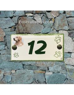 Plaque rectangulaire de maison en céramique Labrador