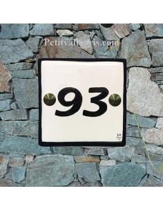 Numéro de maison chiffre ou lettre et bord noir pose horizontale