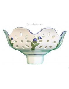 Applique ajourée facette décor Fleurs les bleuets