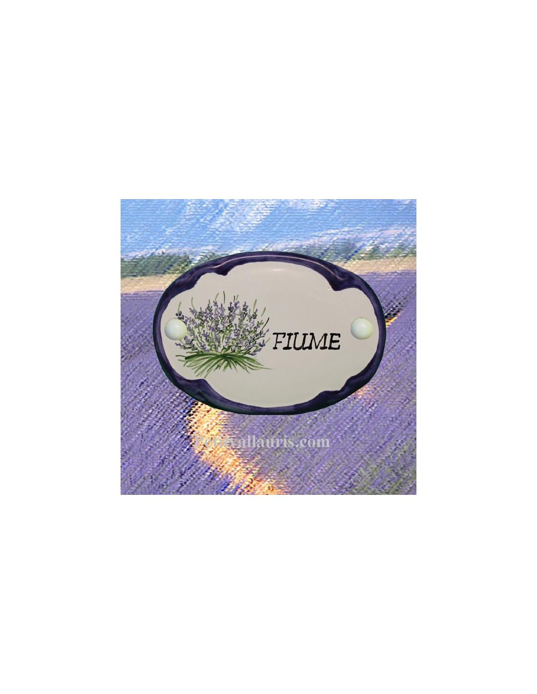 plaque de porte d cor lavande inscription personnalis e le petit vallauris. Black Bedroom Furniture Sets. Home Design Ideas
