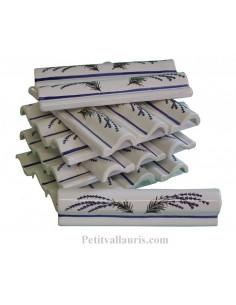 Listel corniche Filet bleu décor Lavande