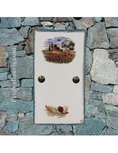 Plaque décorative faience pour cacher interphone