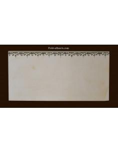 carrelage 10 x 20 en faience décor frise inspiration tradition vieux moustiers polychrome