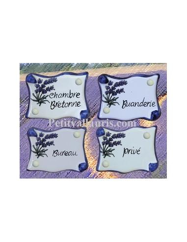 plaque de porte parchemin brins de lavande personnalis e le petit vallauris. Black Bedroom Furniture Sets. Home Design Ideas