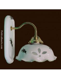 Applique en céramique modèle Col de cygne décor Olives noires