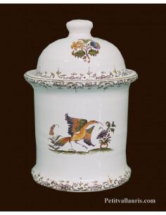 Pot de cheminée rond décor Tradition Vieux Moustiers polychrome taille 2