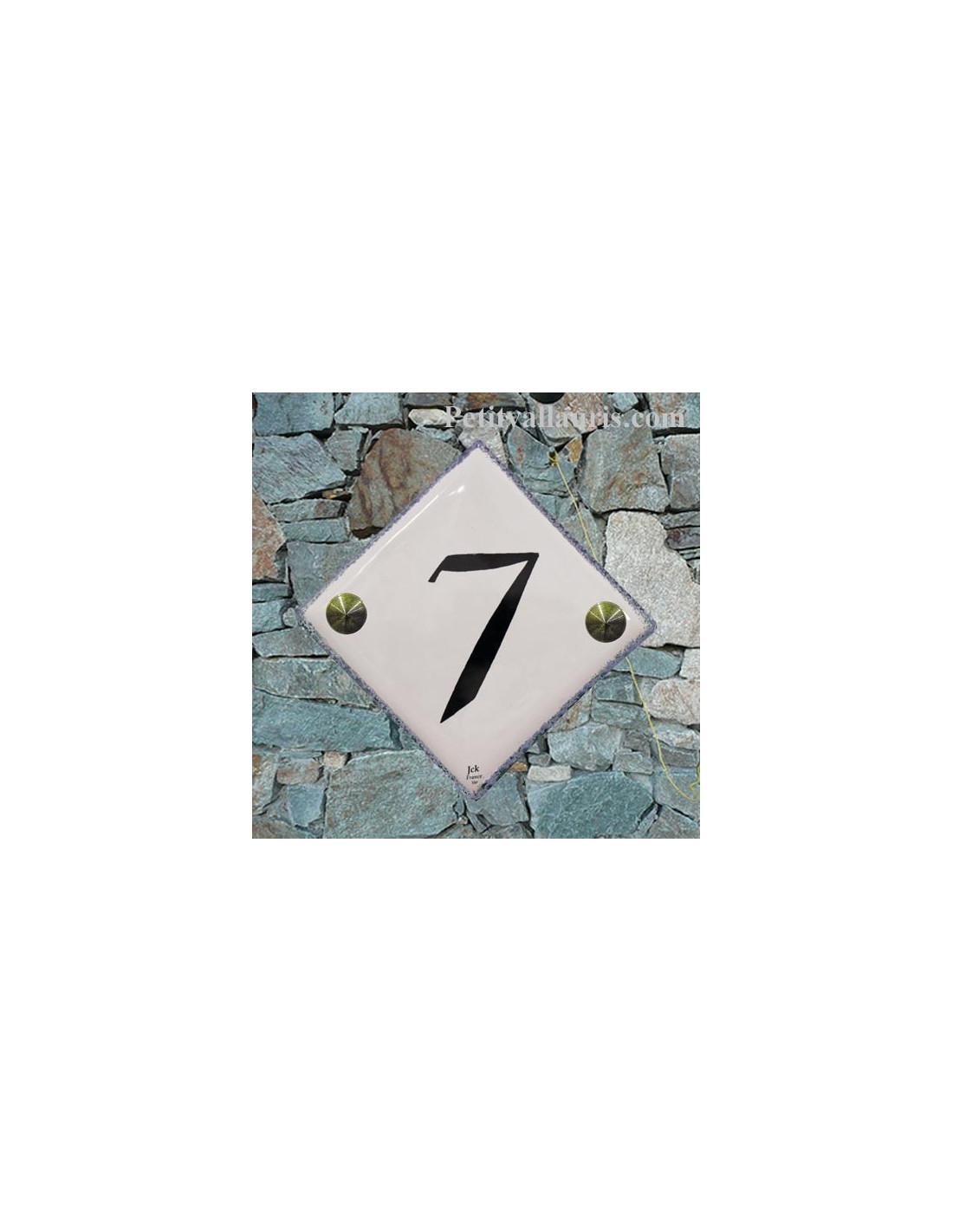 Num ro de rue et de maison en ceramique style contemporain for Numero de porte en faience