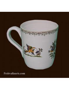 Chope - Mug décor Tradition Vieux Moustiers polychrome personnalisé prénom