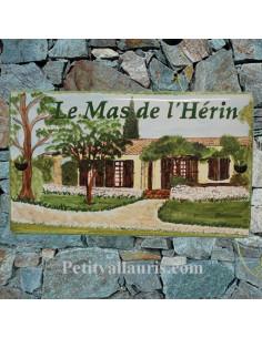 Plaque de maison en céramique pour habitation Client Vaucluse