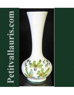 Soliflore boule décor Fleuri vert