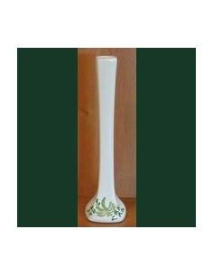 Soliflore modèle droit en faïence au décor Fleuri vert
