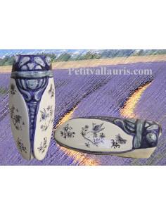 Cigale faïence céramique décor Tradition Vieux Moustiers bleu (T.2)