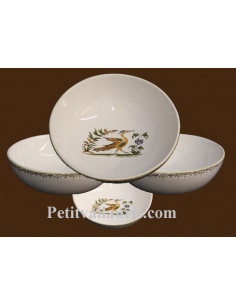 Assiette creuse décor Tradition Vieux Moustiers polychrome