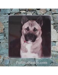 Plaque en céramique personnalisable avec photo de mon chien (n°7)