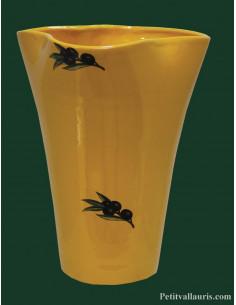 Vase Glaïeul en faïence décor Provençal hauteur 25 cm