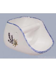 Distributeur de papier toilette en céramique au motif champs de lavandes
