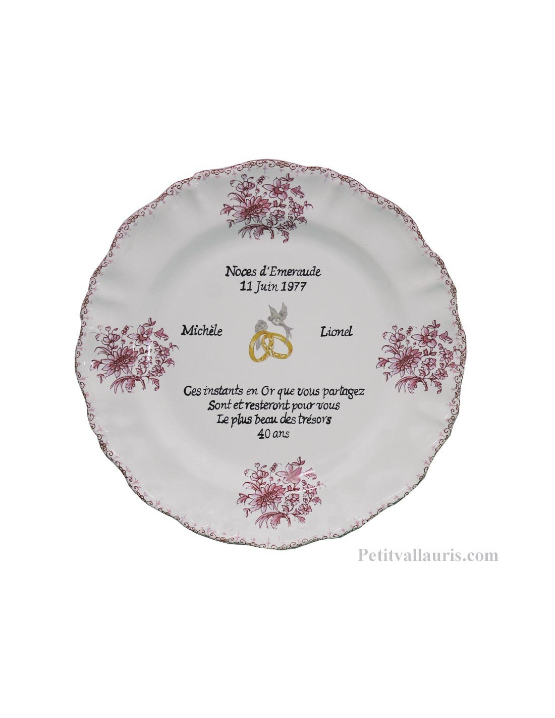 Assiette décorative en Faience pour Souvenir et