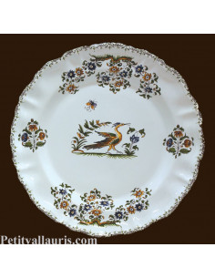 Assiette en faience de table modèle Louis XV reproduction Tradition Vieux Moustiers