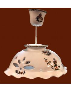 Suspension céramique en promotion décor Tradition Vieux Moustiers polychrome D34