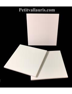 Carreau faience émaillé uni blanc brillant 20 x 20 cm épaisseur 0.5 cm