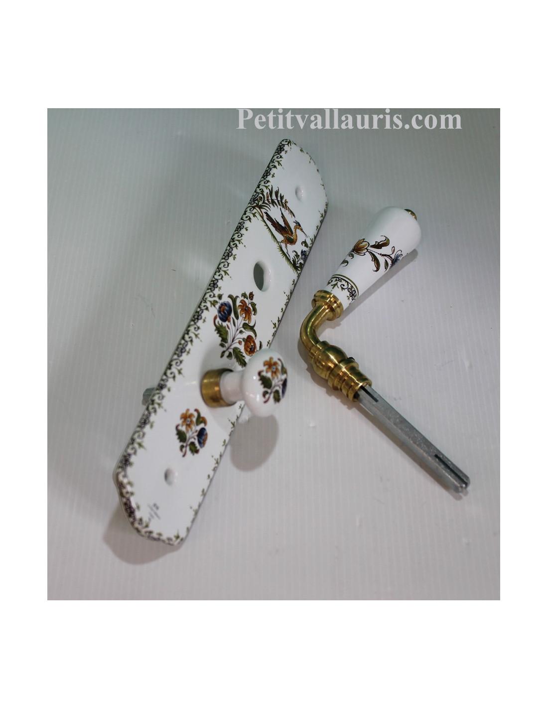 Plaque de porte propret en porcelaine avec verrou d cor for Plaque decorative porte