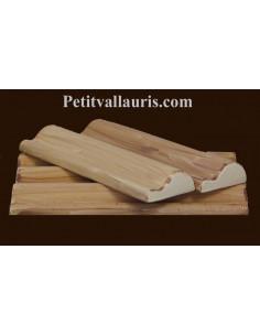 Listel modèle corniche en faience émaillée couleur uni beige-clair