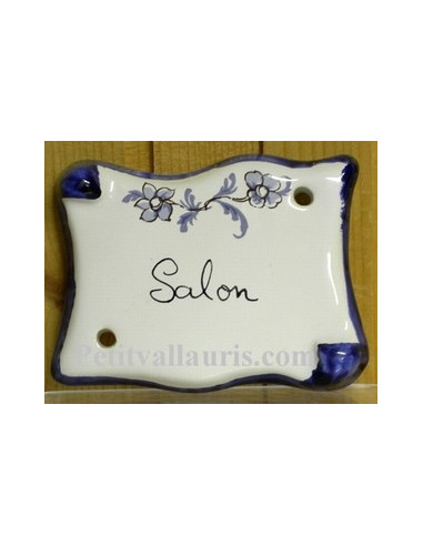 plaque parchemin salon tradition vieux moustiers bleue fin de s rie le petit vallauris. Black Bedroom Furniture Sets. Home Design Ideas