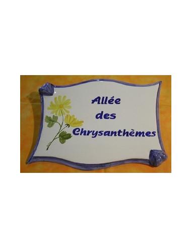 Plaque Emaillee Decorative Fleur Exterieure