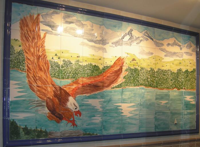 Fresque faience c ramique proven ale personnalis e plaque for Fresque murale carrelage