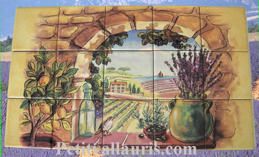 Fresque faience c ramique proven ale personnalis e plaque for Photo faience cuisine provencale
