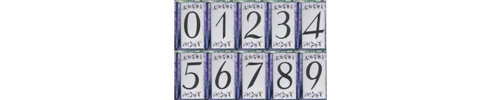 Numéro de Rue et Maison décor tradition Bleu