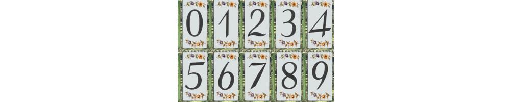 Numéro de Rue et Maison décor tradition Polychrome